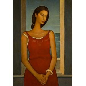Roman Zakrzewski (ur. 1955 r.), Kobieta na tle okna, 1998 r.