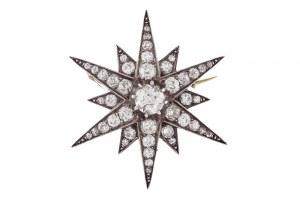 Broszko - wisior w kształcie gwiazdy, ok. 1880 r.