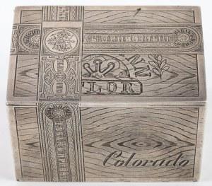 PUDEŁKO NA TYTOŃ, Rosja, Petersburg, John Blasball mł. 1879