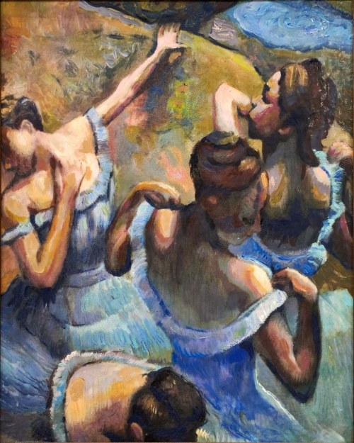 Jacek Schmidt, Blue dancers (wg Degas), 2016