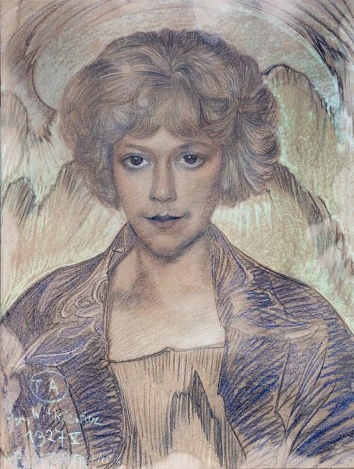 Stanisław I. Witkiewicz (1885 Warszawa - 1939 Jeziory na Polesiu), Portret Zofii Maleckiej, V 1927 r.