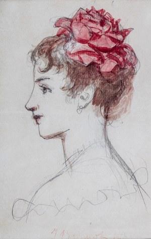 Józef Brandt (1841 Szczebrzeszyn – 1915 Radom), Portret córki artysty, Anieli, l. 1897–1898