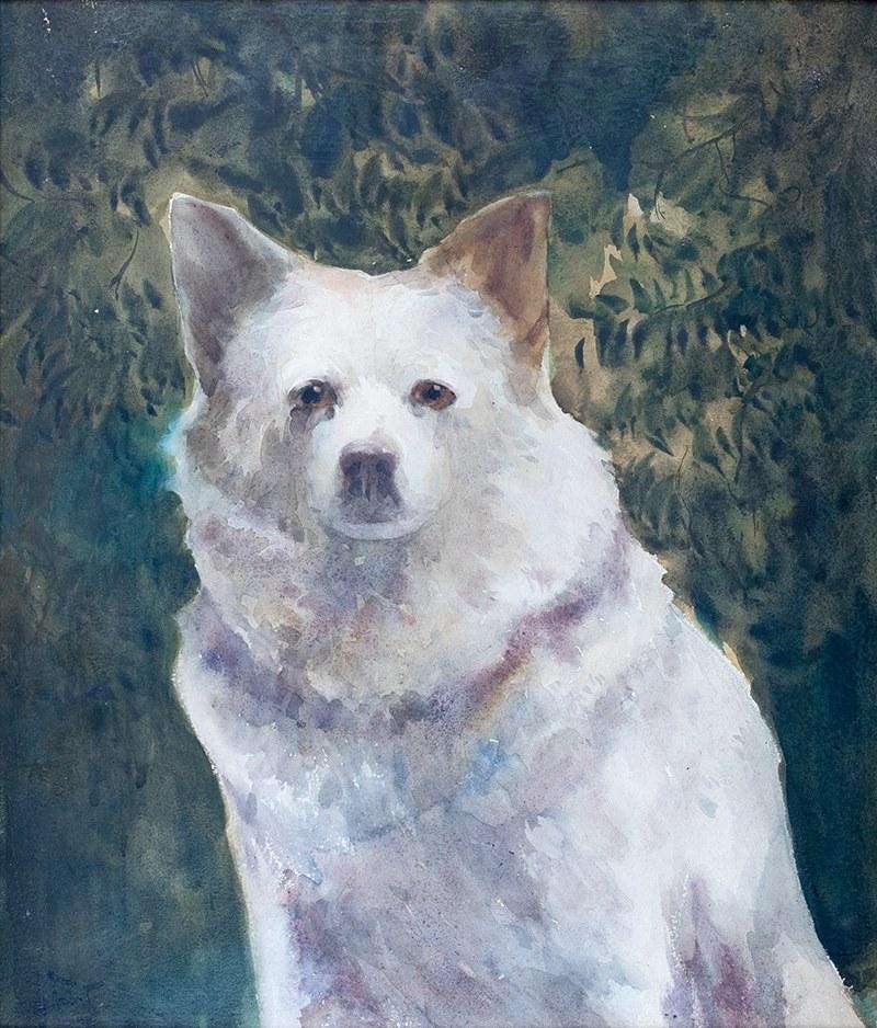 Julian Fałat (1853 Tuligłowy - 1929 Bystra), Pies