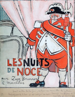 Louis Marcoussis (1878 Warszawa - 1941 Cusset), Projekt okładki L'Assiette au Beurre, 1912 r.