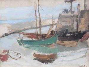 Emanuel Katz (zw. Mané-Katz) (1894 Krzemieńczuk – 1962 Tel Awiw), W porcie, 1931 r.