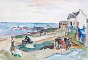 Henryk Epstein (1891 Łódź - 1944 Auschwitz), Nad morzem, l. 30.-40. XX w.