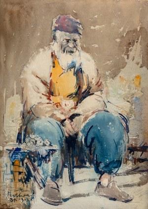 Marian Mokwa (1889 Malary - 1987 Sopot), Portret mężczyzny, 1912 r.