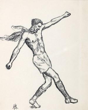 Wlastimil Hofman (1881 Praga - 1970 Szklarska Poręba), Obrona piłki