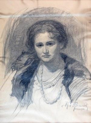 Karol Kłosowski (1882-1971), Portret góralki, 1924 r.