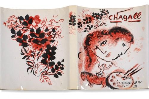 Marc Chagall, Lithographe III (okładka i album z litografią barwną), 1969
