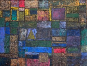 Zdzisław Beksiński (1929 Sanok - 2005 Warszawa) - Kompozycja abstrakcyjna, 1955