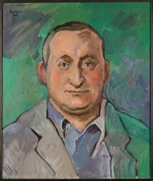 Wojciech Fangor (1922 Warszawa - 2015 tamże) - Portret Andrzeja Wróblewskiego