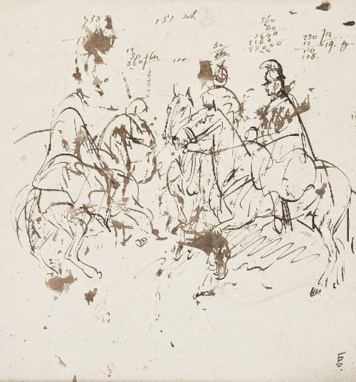 Piotr MICHAŁOWSKI (1800-1855), Studia szwoleżerów