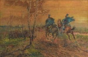 Leonard WINTEROWSKI (1868-1927), Pędzący ułani, 1916