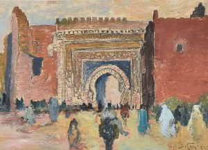 Abraham BEHRMANN (1876-1942), Brama Bab al-Mansur w Meknes, Maroko, 1934