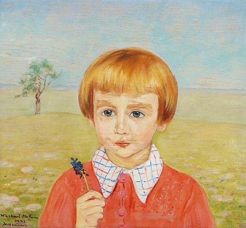 Wlastimil HOFMAN (1881-1970), Portret chłopczyka, 1942