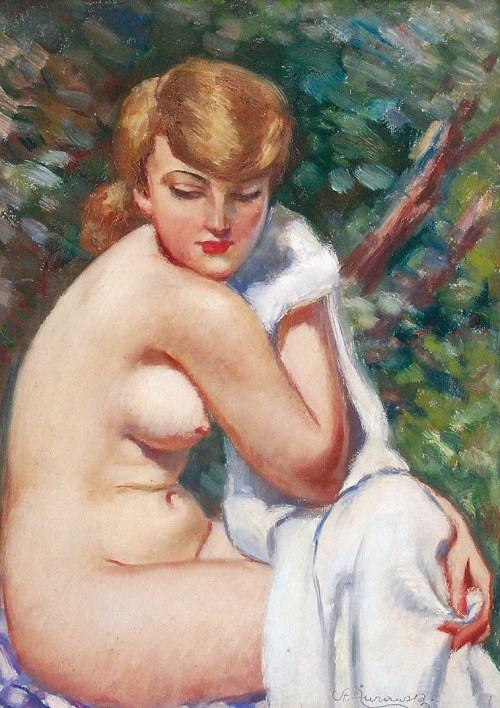 Stanisław ŻURAWSKI (1889-1976), Akt kobiety - Toaleta