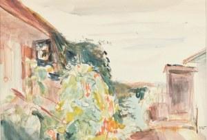 Wojciech WEISS (1875-1950), Ogród przy domu artysty w Kalwarii, 1914