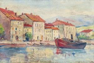 Eugeniusz DZIERŻENCKI (1905-1990), Motyw ze śródziemnomorskiego miasteczka