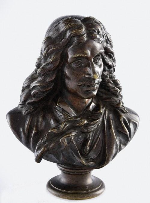 JEAN-ANTOINE HOUDON (1741-1828) według, Popiersie Moliera (Jean-Baptiste Poquelin, 1622-1673)