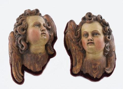 Para główek anielskich, uskrzydlonych