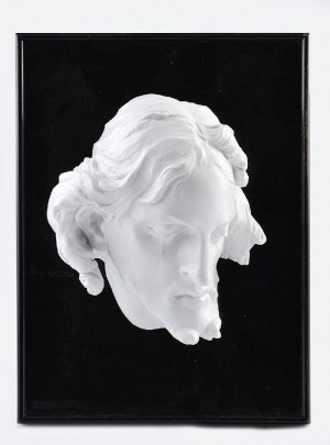 Rosenthal AG, Kunstabteilung Bahnhof Selb, wg rzeźby Paula EGELL (1691-1752), Głowa Chrystusa (na podkładzie drewnianym)
