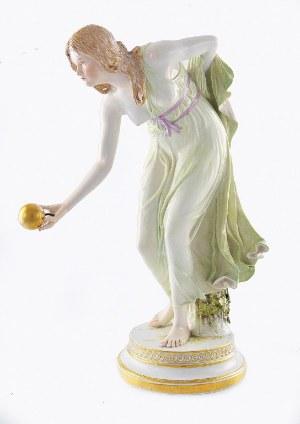 Walther SCHOTT (1861-1938) - model, Manufaktura Porcelany w Miśni, Dziewczyna z kulą (Kugelspielerin)