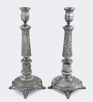 Fabryka Wyrobów Srebrnych i Platerowanych J. Fraget, Para lichtarzy