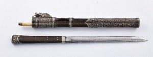 Nóż japoński koganata i pałeczki-szpile - warikogai, w futerale
