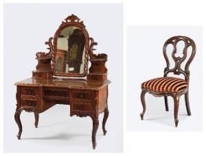 Toaletka i krzesło w stylu Ludwika Filipa