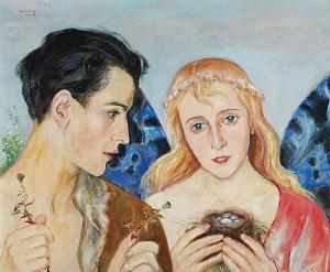Wlastimil HOFMAN (1881-1970), Scena alegoryczna, 1958