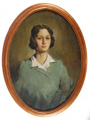 Mieczysław ORACKI- SERWIN (1912-1977), Portret młodej kobiety