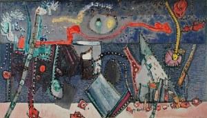 Bogusław SZWACZ (1912-2009), Arshormegram - Klejnoty Bałtyku, 1969 tempera, olej, technika mieszana, płótno; 112 x 185 cm; sygn. i dat. p. d.: *SZWACZ* 1969*