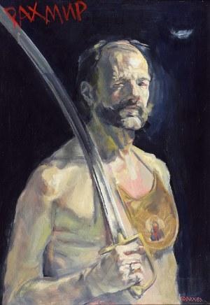 """Leszek SOBOCKI (ur. 1934), Pożegnanie z bronią, z cyklu: """"Graffiti"""", 1986"""