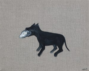 Magdalena Cybulska, Czarny pies, biały pies z cyklu Moja skóra, 2013