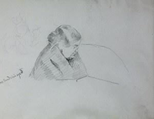 Jacek Malczewski (1854-1929), Popiersie siostry artysty Bronisławy z prawego profilu, 10.XII. 1925