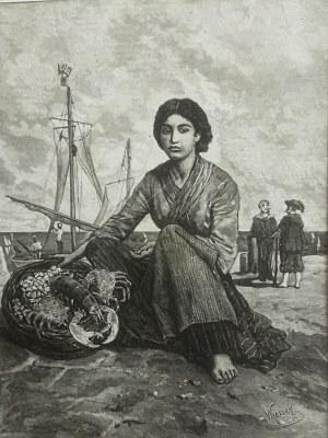 Wojciech Kossak (1856-1942), Młoda przekupka z wyspy Chioggia pod Wenecyą