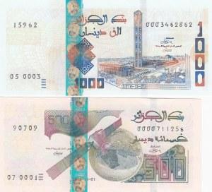Algeria, 500 Dinars and 1.000 Dinars, 2018, UNC, pNew, (Total 2 banknotes)