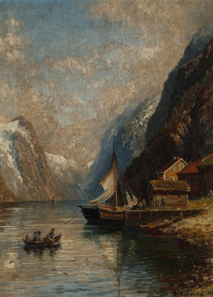 Anders ASKEVOLD, PRZYSTAŃ NA FIORDZIE, 1894