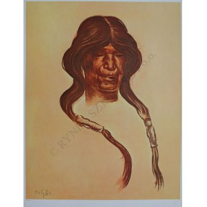 "Bolesław Cybis wg (1895-1957), Old Woman. Hopi Tribe(z teki ""Folio One of American Indian"" pl.8, 1970, no 258/1000)"