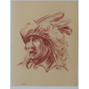 "Bolesław Cybis wg (1895-1957), Vanished Dreams. Yuma Tribe(z teki ""Folio One of American Indian"" pl.9, 1970, no 258/1000)"