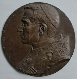 Czesław Makowski (1873-1921), Medalion Papież Benedykt XV
