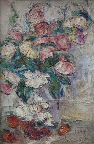 Włodzimierz Terlikowski (1873-1951), Kwiaty w wazonie (1944)