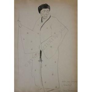 """Tadeusz Waśkowski (1883-1966), Solski jako Samuraj """"Tarakoj"""""""