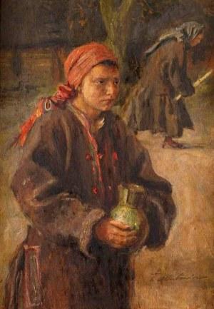 Teodor Axentowicz (1859 Braszów, Rumunia - 1938 Kraków), Dziewczynka z dzbanem