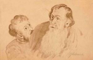 Jacek Malczewski (1854 Radom - 1929 Kraków), Mężczyźni, ok. 1875