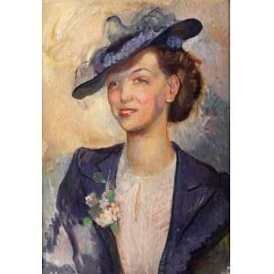 Antoni Michalak (1899 Kozłowo Szlacheckie - 1975 Kazimierz Dolny), Portret kobiety, 1939