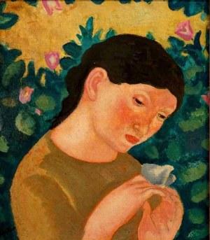 Eugeniusz Zak (1884 Mogilno - 1926 Paryż), Dziewczynka z motylem, 1906