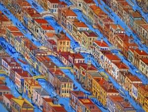 Edward Dwurnik (1943 – 2018) Wenecja, 1997, 50 x 70 cm