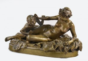Henri Emile ALLOUARD (1844-1929), Bachantka i Satyr